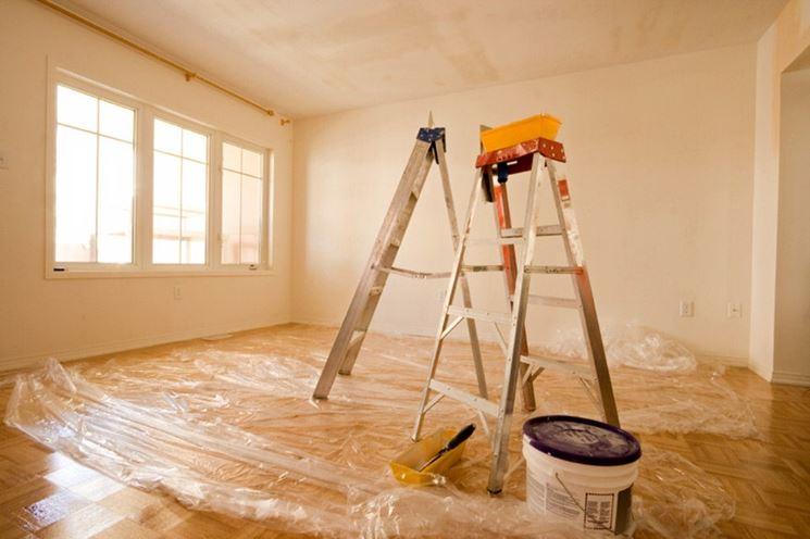 copertura pavimento prima di tinteggiatura