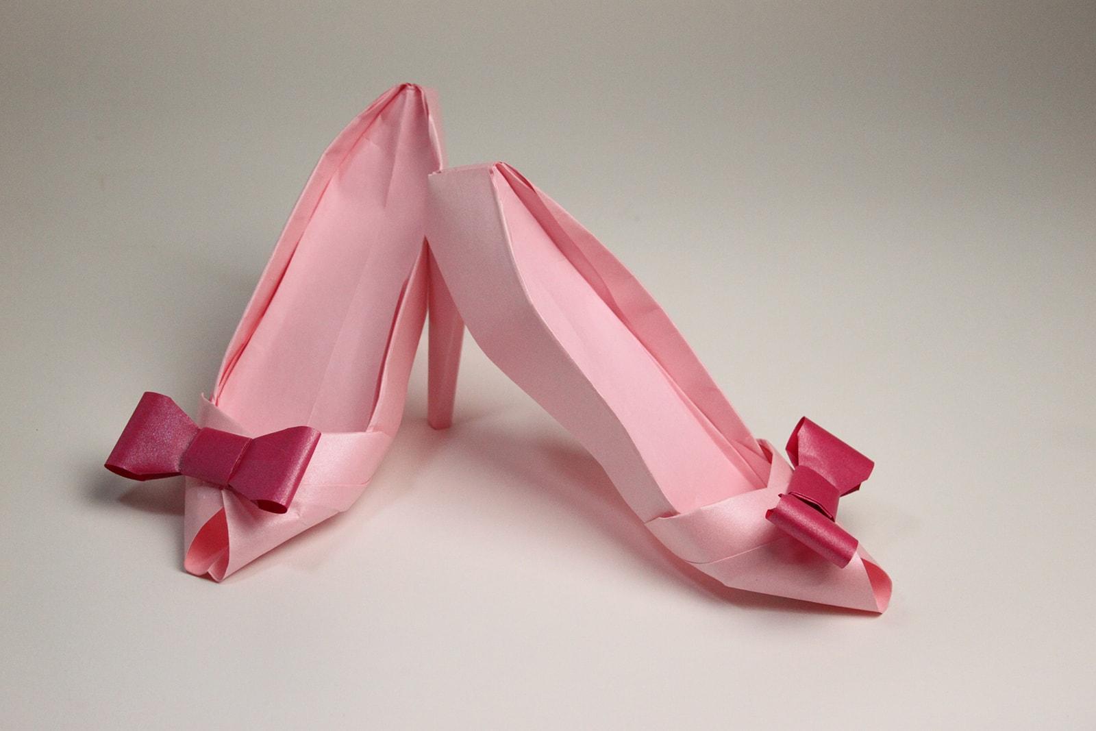 scarpe origami fai da te