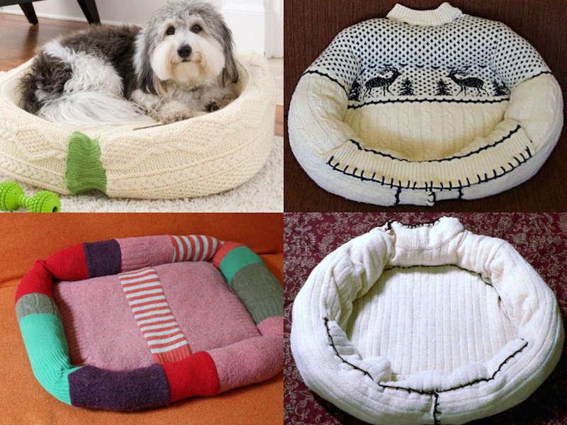Cuccia fai da te riciclando un vecchio maglione fai da for Cucce cani fai da te