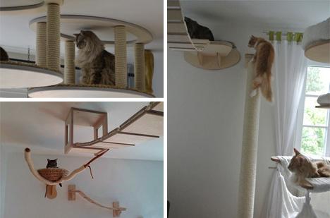 Parco giochi fai da te per il gatto di casa fai da te for Parete attrezzata fai da te